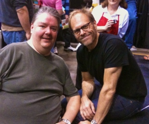 Alton Brown and Patrick
