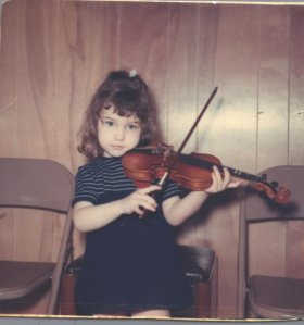 Lynda with violin