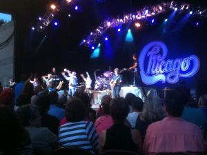 Chicago performing at the Fraze Pavillion