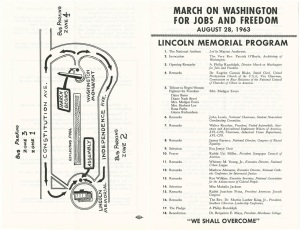 Program for March on Washington, August 28, 1963