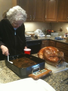 Mom K making her gravy