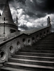 Budapest castle stairs