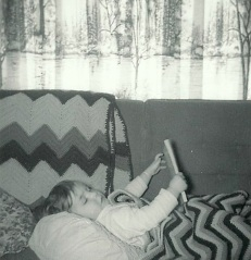The earliest picture I have of me reading a book