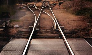 railroad tracks as a symbol of choice