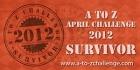 Blogging A-to-Z 2012 Survivor Badge